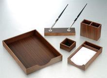 Dřevěné a bambusové kancelářské sady