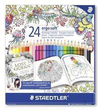 "Barevné pastelky ""Ergo Soft"", Johanna Basford lim. edice, sada, trojhranná, STAEDTLER"