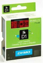 "Páska, 24 mm x 7 m, DYMO ""D1"", červená-černá"