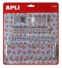 Pouzdro na tužky sada, květy, APLI, modré
