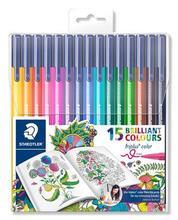 "Fixy ""Triplus"", Johanna Basford lim. edice, sada, 15 různých barev, 1 mm, STAEDTLER"