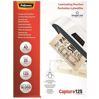 Laminovací fólie, lesklá, 125 micron, A3, FELLOWES