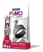 FIMO® Soft DIY šperková sada ČERNÁ a BÍLÁ