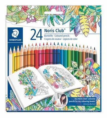 "Barevné pastelky ""Noris Club"", Johanna Basford lim.edice, sada, šestihranná, STAEDTLER"