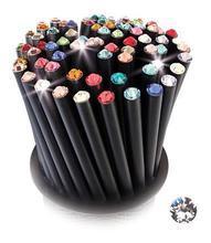 Grafitová tužka, SWAROVSKI® Crystals, bílá, 17cm, černá