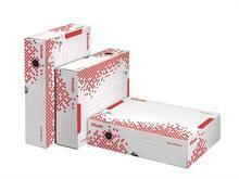 """Rychle-složitelná archivační krabice """"Speedbox"""", horizontální, bílá, 80 mm, ESSELTE"""