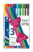 """Liner """"Triplus 334 Box"""" set 10+3, různé barvy, 0,3mm, STAEDTLER"""