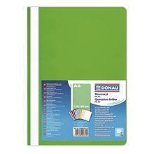 Desky s rychlovazačem, světle zelené, PP, A4, DONAU
