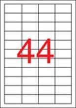 Etiketa, 48,5x25,4 mm, snímatelná, zaoblené rohy, 4400 ks, APLI