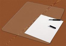 Podložka na stůl, transparentní, 648x509 mm, PANTA PLAST