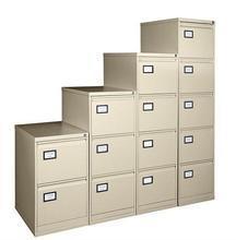 Kartotéka na závěsné archivní desky, kovová, 2 zásuvky, VICTORIA, béžová