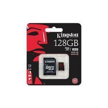 Paměťová karta microSDXC, 128GB, Class 10/U3, 90/80 MB/s, adaptér, KINGSTON