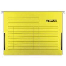 Závěsné desky, s bočnicemi, žluté, karton, A4, DONAU