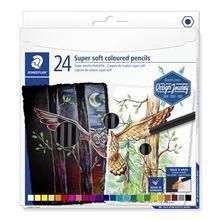 "Barevné pastelky ""Design Journey Super Soft"", sada 24 barev, šestihranná, STAEDTLER"