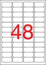 Etiketa bezpečnostní, zaoblené rohy, 45,7 x 21,2mm, APLI, 240 ks/bal., APLI