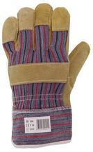 Pracovní rukavice z kůže (hovězí štípenka), velikost 10, šedá/červená