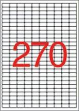 Etiketa, 17,8x10 mm, snímatelná, zaoblené rohy, 6750 ks, APLI