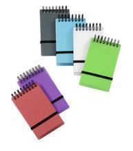 """Blok """"Propyglass"""", různé barvy, kroužková vazba, 75x125mm, VIQUEL"""