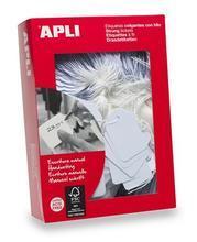 Cenové etikety, bílá, 9 x 24mm, APLI - 2/2
