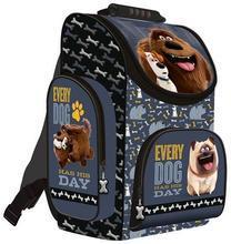 """Školní batoh, aktovka """"Tajný život mazlíčků"""", šedá, ergonomický, 16"""", UNIPAP"""