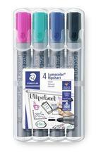 "Popisovače na flipchart ""Lumocolor 356"", 4 barvy, pro flipchart, STAEDTLER 356 WP4-1"