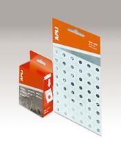Zpevňovací kroužky do pořadače, 13 mm průměr, průhledné, APLI