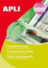 Fólie pro zpětné projektory, pro černobílý laserový tisk, A4, APLI