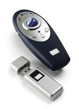 """Dálkový ovladač """"P3"""", s laserovým ukazovátkem, bezdrátový, NOBO"""