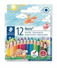 "Barevné pastelky ""Noris Club"", 12 barev, poloviční délka, šestihranná, STAEDTLER"