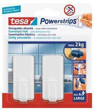 """Háčky s lepicím proužkem """"Powerstrips® 58010"""", bílá, velké, TESA"""