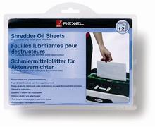 Olejová obálka, pro údržbu skartovacích strojů, 12 ks, REXEL