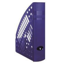 Stojan na časopisy, modrý, plastový, 70 mm, DONAU