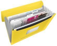 Aktovka s držadlem a 6 přihrádkami, Vivida žlutá, A4, plast, ESSELTE