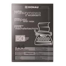 Průpisový papír, černý, pro psací stroj, A4, 50 listů, DONAU