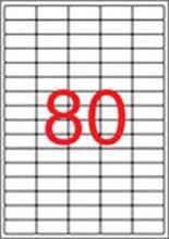 Etiketa, 35,6x16,9 mm, snímatelná, zaoblené rohy, 2000 ks, APLI