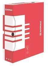 Archivační krabice, červená, karton, A4, 80mm, DONAU