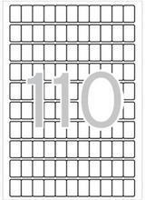 Etikety, zaoblené rohy,  12x18 mm, 1650 ks/bal., A5, APLI