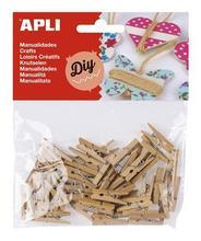 """Mini kolíčky """"Creative"""", dřevěné, přírodní, APLI"""