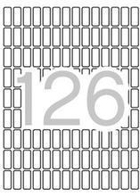 Etikety, zaoblené rohy,  8x20 mm, 1890 ks/bal., A5, APLI