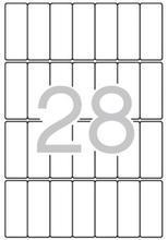 Etikety, zaoblené rohy,  20x50 mm, 420 ks/bal., A5, APLI