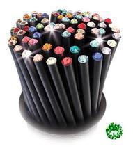 Grafitová tužka, SWAROVSKI® Crystals, zelená peridot, 17cm, černá