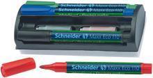 """Popisovač na bílou tabuli a flipchart """"Maxx Eco 110"""", mix 4 barev, včetně náplně a mazací houby, kuž"""