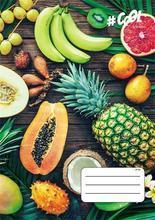 """Sešit """"Juicy fruit"""", A4, mix motivů, čtverečkovaný, 32 listů, COOL by Victoria"""