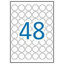 Etiketa, kruhová, průměr 30 mm, zaoblené rohy, odolná vůči povětrnostním vlivům, polyester, 960ks/ b
