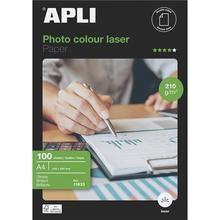 """Fotografický papír """"Premium Laser"""", do laserové tiskárny, lesklý, A4, 210g, oboustranný, APLI"""