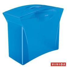 """Zásobník na závěsné desky """"Europost"""", 5 ks závěsných desek, Vivida modrá, plast, ESSELTE"""