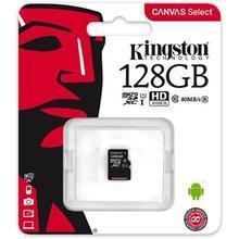 """Paměťová karta microSDXC """"Canvas Select"""", 128GB, Class 10/U1, 80/10 MB/s, KINGSTON"""
