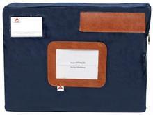 Taška na dokumenty, 42x5x32 cm, ALBA, modrá