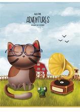 """Sešit """"Adventures"""", čtverečkovaný, mix, A5, 36 listů, SHKOLYARYK - 2/4"""