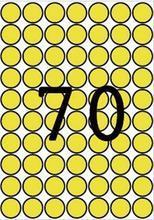 Etikety, kruhové, žlutá, průměr 19mm, 560 ks/bal., A5, APLI